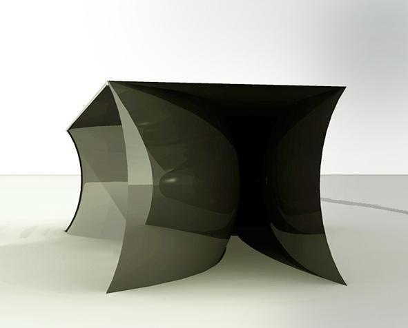 Design table bureau verre noir et laque agencedomidesign